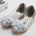 ieftine Pantofi Fetițe-Fete Pantofi PU Primavara vara Pantofi Fata cu Flori Tocuri Cristal / Paiete pentru Copii Auriu / Argintiu