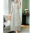 זול פיאות סינטטיות ללא כיסוי-מקסי מנוקד - שמלה סווינג בגדי ריקוד נשים