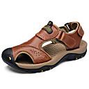ieftine Sandale Bărbați-Bărbați Nappa Leather / Piele Vară Confortabili Sandale Maro Deschis / Maro Închis / Kaki