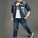 povoljno Kompletići za dječake-Djeca Dječaci Osnovni Jednobojni Dugih rukava Komplet odjeće