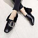 ieftine Sandale de Damă-Pentru femei Pantofi PU Iarnă Confortabili / Fluier de căptușeală Tocuri Blocați călcâiul Vârf pătrat Negru / Galben / Verde Militar