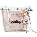 ieftine Genți Totes-Pentru femei Genți PVC Umăr Bag Dantelă Print Floral Trifoi / Alb / Roz Îmbujorat