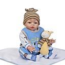 preiswerte Puppen-NPKCOLLECTION Lebensechte Puppe Baby Jungen 24 Zoll Neugeborenes Geschenk Künstliche Implantation Braune Augen Kinder Jungen / Mädchen Spielzeuge Geschenk