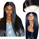 cheap Synthetic Lace Wigs-Synthetic Wig / Synthetic Lace Front Wig Women's Straight Black Layered Haircut Synthetic Hair 26 inch Soft / Adjustable / Heat Resistant Black / Brown Wig Long Lace Front Natural Black Dark Brown