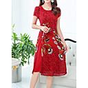 hesapli Moda Küpeler-Kadın's Çin Stili Kombinezon Elbise Diz-boyu