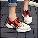 cheap Women's Boots-Women's Shoes Nappa Leather Summer Comfort Sneakers Flat Heel Closed Toe Silver / Red / Pink