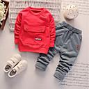 cheap Baby Boys' One-Piece-Baby Boys' Basic Daily Print Long Sleeve Regular Regular Cotton / Acrylic Clothing Set Black 2-3 Years(100cm) / Toddler