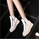 ieftine Flip-Flops de Damă-Pentru femei Pantofi PU Iarnă Confortabili Adidași Platformă Alb / Negru / Argintiu
