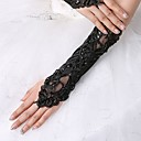 cheap Wedding Wraps-Spandex Fabric Elbow Length Glove Vintage Style / Gloves With Trim