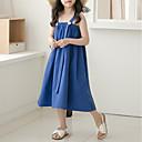 povoljno Haljine za djevojčice-Djeca Djevojčice Aktivan / slatko Jednobojni Bez rukávů Haljina Plava