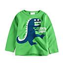 tanie Topy dla chłopców-Dzieci / Brzdąc Dla chłopców Podstawowy Sport Nadruk Nadruk Długi rękaw Bawełna T-shirt
