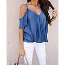 tanie Dopinki ombre-T-shirt Damskie Bawełna Solidne kolory