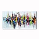 povoljno Ulja na platnu-styledecor® moderna ruka oslikala je apstraktni šareni odraz na platnu na platnu za zidnu umjetnost spreman za privlačenje umjetnosti