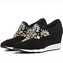 ieftine Sandale de Damă-Pentru femei Pantofi Piele de Căprioară / Piele de Oaie Primăvară / Vară Confortabili Mocasini & Balerini Toc Platformă Vârf Închis Negru / Gri