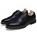 cheap Men's Oxfords-Men's PU(Polyurethane) Fall Comfort Oxfords Black / Brown / Wine