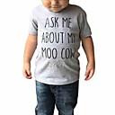ieftine Top Băieți Bebeluși-Bebelus Băieți Activ Imprimeu Manșon scurt Poliester Tricou Gri 100 / Copil