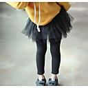 ieftine Pantaloni Fete & Leginși-Copii Fete De Bază Mată Bumbac Leginși Negru 100