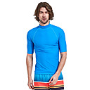 cheap Wetsuits, Diving Suits & Rash Guard Shirts-SBART Men's Diving Rash Guard SPF50, UV Sun Protection, Quick Dry Nylon Short Sleeve Swimwear Beach Wear Sun Shirt / Top Solid Colored Diving