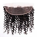 cheap Human Hair Wigs-Brazilian Hair 4x13 Closure Wavy Swiss Lace Human Hair Women's Best Quality / 100% Virgin / curling Christmas / Christmas Gifts / Wedding