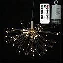 hesapli LED Şerit Işıklar-0.2m Dizili Işıklar 100 LED'ler SMD 0603 1 13 Tuş Uzaktan Kumanda Sıcak Beyaz / Beyaz / Çok Renkli Su Geçirmez / Yaratıcı / Dekorotif AA Bataryalar Powered 2pcs