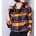 رخيصةأون الترتيب و التنظيم-نسائي قطن قميص قبعة القميص - أساسي طباعة منقوش / الخريف