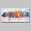 cheap Abstract Paintings-Oil Painting Hand Painted - Abstract / Pop Art Modern Canvas