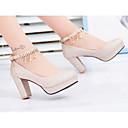 olcso Női magassarkú cipők-Női Szintetikus Tavasz Kényelmes / Magasított talpú Magassarkúak Vaskosabb sarok Arany / Ezüst / Bíbor / Napi