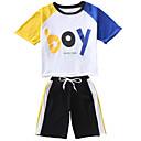 ieftine Seturi Îmbrăcăminte Băieți-Copil Băieți Bloc Culoare Manșon Jumate Set Îmbrăcăminte