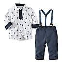 ieftine Set Îmbrăcăminte Băieți Bebeluși-Bebelus Băieți Dungi / Geometric / Bloc Culoare Manșon Lung Set Îmbrăcăminte