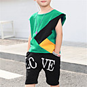 ieftine Seturi Îmbrăcăminte Băieți-Copil Băieți De Bază Mată Manșon scurt Poliester Set Îmbrăcăminte Trifoi 140