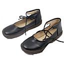 povoljno Ženske ravne cipele-Žene Cipele PU Ljeto Remen oko gležnja Ravne cipele Ravna potpetica Okrugli Toe Crn / Badem