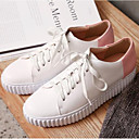 cheap Women's Boots-Women's Shoes Nappa Leather Summer Comfort Sneakers Flat Heel Closed Toe White / Black