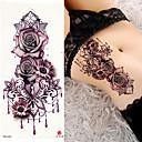 abordables Tatuajes Temporales-3 pcs Los tatuajes temporales Series de Flor / Serie romántica Adhesivo suave / Seguridad Artes de cuerpo brazo / hombro / Tatuajes temporales estilo calcomanía