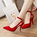 baratos Sapatos de Salto-Mulheres Camurça Verão Conforto Saltos Salto Agulha Dedo Apontado Preto / Vermelho / Azul / Diário