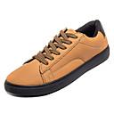 זול נעלי בד ומוקסינים לגברים-בגדי ריקוד גברים אור סוליות PU אביב נעלי ספורט שחור / אפור / צהוב