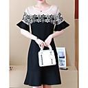 baratos Edredons de Luxo-Mulheres Básico Chifon Vestido Acima do Joelho