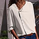 billige Kunstig Blomst-Skjorte Dame - Ensfarget Grunnleggende