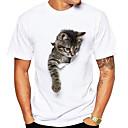 tanie Adidasy męskie-T-shirt Męskie Okrągły dekolt Zwierzę / Krótki rękaw