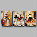 cheap Wall Art-Oil Painting Hand Painted - Abstract Comtemporary Canvas