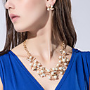 cheap Jewelry Sets-Women's Pearl Jewelry Set - Pearl, Imitation Pearl, Rhinestone Flower Personalized, European, Fashion Include Gold / Silver For Party Birthday Engagement / Imitation Diamond / Earrings / Necklace