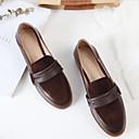 povoljno Ženske cipele bez vezica-Žene Cipele Mekana koža Ljeto Udobne cipele Ravne cipele Ravna potpetica Zatvorena Toe Crn / Braon