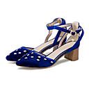 ieftine Pantofi de Mireasă-Pentru femei Pantofi Microfibre Toamna iarna D'Orsay & Două Bucăți Tocuri Toc Îndesat Vârf ascuțit Cristal / Cataramă Rosu / Verde / Albastru / Party & Seară