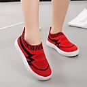 זול נעלי ילדות-בנות נעליים סריגה / PU אביב קיץ נוחות נעליים ללא שרוכים הליכה ל מתבגר שחור / אדום / ורוד
