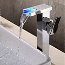preiswerte Badarmaturen-Waschbecken Wasserhahn - Wasserfall / Verbreitete / Neues Design Chrom Wandmontage Einhand Ein Loch