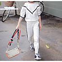 povoljno Haljine za djevojčice-Djeca Djevojčice Aktivan Praznik / Izlasci Crno-bijela Jednobojni Dugih rukava Regularna Normalne dužine Spandex Komplet odjeće Obala 130