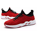 cheap Men's Sneakers-Men's PU(Polyurethane) / Elastic Fabric Spring / Summer Comfort Athletic Shoes Running Shoes Black / Gray / Red