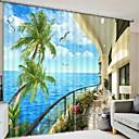 preiswerte Fenster Schürze-3D Vorhänge Schlafzimmer Geometrisch Polyester Bedruckt / Verdunkelung
