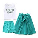 ieftine Set Îmbrăcăminte Bebeluși-Bebelus Fete Imprimeu Fără manșon Set Îmbrăcăminte
