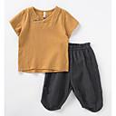 povoljno Hlače za dječake-Djeca Dječaci Osnovni Dnevno Jednobojni Kratkih rukava Poliester Komplet odjeće Obala