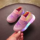 olcso Kislány cipők-Lány Cipő Kötött / PU Tavaszi nyár Kényelmes Papucsok & Balerinacipők Gyalogló LED mert Gyerekek Piros / Zöld / Rózsaszín